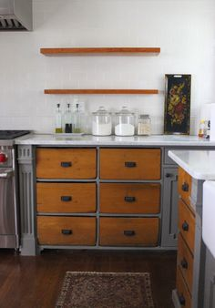 Is the two-tone odd? I like it! An Urban Cottage: Kitchen Renovation