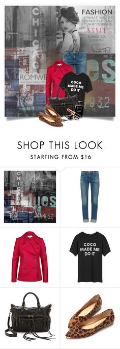 """""""Romwe Contest"""" by invisiblek ❤ liked on Polyvore featuring The Artwork Factory, Frame Denim, MICHAEL Michael Kors, Liebeskind, Chanel, women's clothing, women, female, woman and misses"""