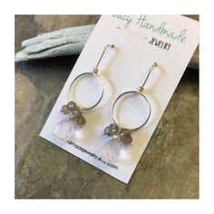 Precious Rose Quartz and Labradorite earrings! 💕Now listed💕💕