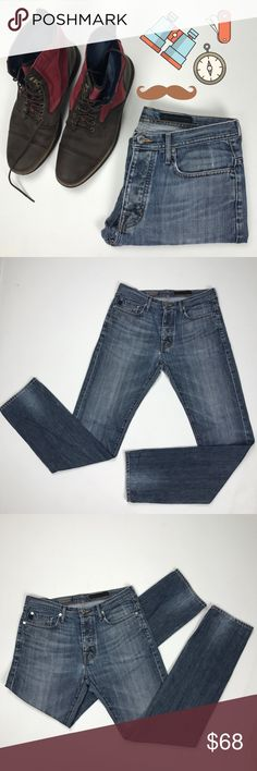 The Stockholm AG denim 31 (UEC) Medium rise, light washed, straight leg cut, size 31, looks super cool! Ag Adriano Goldschmied Jeans Straight