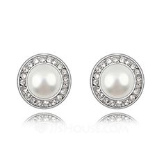 Jewelry - Nice Alloy With Pearl Ladies' Earrings/Stud Earrings (011036384) http://jjshouse.com/Nice-Alloy-With-Pearl-Ladies-Earrings-Stud-Earrings-011036384-g36384