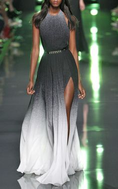 Elie Saab Spring/Summer 2015 Trunkshow Look 22 on Moda Operandi - Ombre done right. Beautiful Gowns, Beautiful Outfits, Elegant Dresses, Pretty Dresses, Couture Fashion, Runway Fashion, Elegantes Outfit, Mode Outfits, Fall Outfits