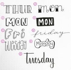 9 Simple Lettering Styles for Your Bullet Journal - The Petite Planner
