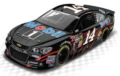 2013 TONY STEWART #14 MOBIL 1 BLACK SPECIAL 1/24 ACTION DIECAST