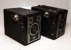 A pair of Agfa Synchro Box Cameras