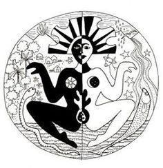Mama Pacha: Medallion picture of the Bolivian version of Mother Earth Mama Tattoo, 4 Tattoo, Peru Tattoo, Beautiful Dark Art, Arte Tribal, Zodiac Art, Weird Creatures, Environmental Art, Sacred Art