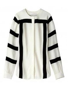 Striped Silk Blouse