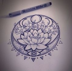 Tattoo Designs Mandala Tatoo Ideas For 2019 Neue Tattoos, Body Art Tattoos, Sleeve Tattoos, Tatoos, Star Tattoos, Tattoo Neck, Tattoo Hip, Small Tattoo, Tree Of Life Tattoos