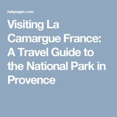 Visiting La Camargue France: A Travel Guide to the National Park in Provence