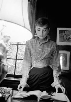 Audrey Hepburn photographed by Dennis Stock on the set of Sabrina, Long Island, New York, 1954