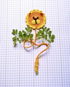 crochet Lion bookmark 102 Panda Bear Cute bookmark
