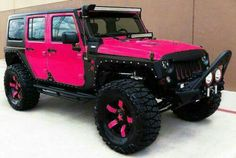 Pink Jeep and rims
