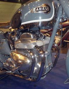 Ariel Square Four - Détail moteur
