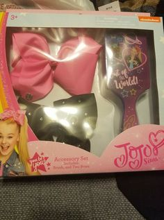 Genuine Jojo Bow Large Pink Metallic,stiff Material,worn Once Girls Sparkly Great Varieties Clothing, Shoes & Accessories