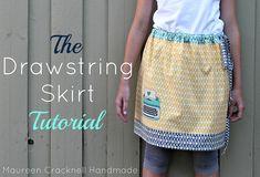 The Drawstring Skirt Tutorial by maureencracknell