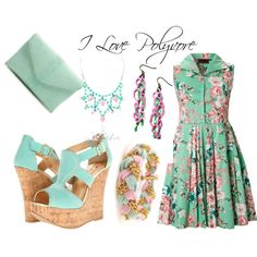 """mint and pink"" by carolwatergirl on Polyvore"
