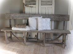 Stoere oud houten eetbank,bank,zitbank,tuinbank,klepbank: http://link ...