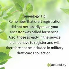 DYK: Not everyone served & some who served are not in the draft. #familyhistory #familytree #generations #military #veterans #draft #WWII #genealogy #ancestry #heritage #roots