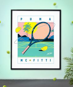 Spring 2014 Collection for Puma × MC Fitti Graphic Design Tools, Graphic Design Inspiration, Colour Inspiration, Digital Illustration, Graphic Illustration, Funky Fonts, Colorful Drawings, Deco, Typography Design