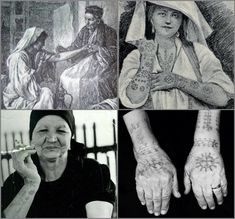 Serbian women tattoos. #balkans