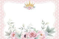 Flower Background Wallpaper, Flower Backgrounds, Baby Wallpaper, Rose Frame, Flower Frame, Baby Shower Invitation Templates, Baby Shower Invitations, Marcos Para Baby Shower, Invitation Background