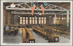 U.S. Immigration Station, Ellis Island, New York. Primary Examination.