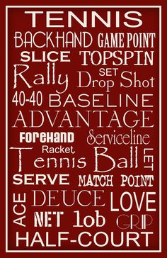 Tennis Typography