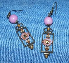 Pink Flower and Rhinestone Re Purposed by Justatishdesigns on Etsy, $15.00