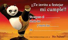 Tarjeta de cumpleaños de kunfu-panda