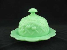 another wonderful jadite butter dish
