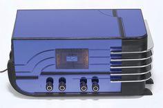 "1937-1939 Sparton ""Sled"" Radio Receiver Deluxe Model #558-B Transistor Radio, Art Deco Design, Timeless Elegance, Sled, Radios, Clocks, Auction, Apple, Electronics"