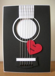 """And now for something a little bit different! I made some """"music themed """" cards for this month's Cardmaking and Papercraft magaz. Love Cards, Diy Cards, Tarjetas Diy, Karten Diy, Cardmaking And Papercraft, Masculine Cards, Valentine Day Cards, Creative Cards, Scrapbook Cards"""