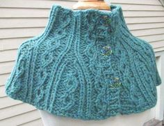 Knitting Pattern-Twisted Cable Neck Warmer & Shoulderette by DawnBroccoDesigns $6