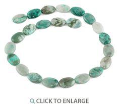 13x18MM Green Turquoise Jasper Oval Gemstone #Beads