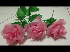 Rosa de una bolsa de plástico | ideas artesanales de bolsas de plástico - YouTube