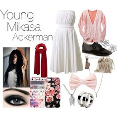 """Young Mikasa Ackerman - Attack on Titan"" by courtneysue-kinsey on Polyvore"