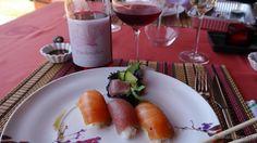 Sushi y #Vino @PardeValles Rosado 2012 en #vino y #gastronomia con #platoyvino by @AntonioJesusPR