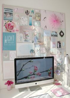 Love the idea of having an inspiration board in front of you all day as you work.