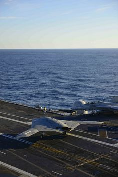 The X-47B taxies aboard USS Harry S. Truman. by Official U.S. Navy Imagery