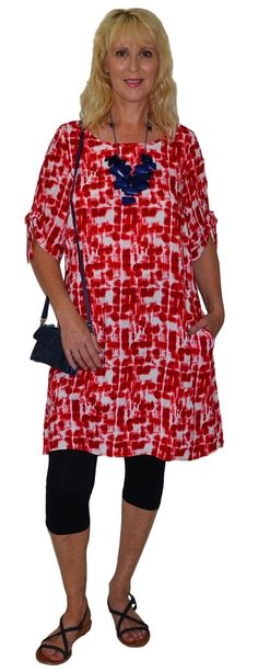 Red White Checks Tunic