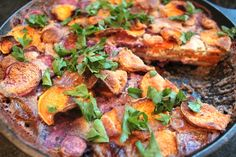 A super healthy sweet potato gratin (paleo & vegan!)