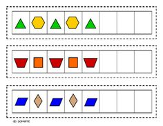 Lory's Page: Math Work Stations Chapter 7 Patterning Kindergarten, Preschool Math, Math Classroom, Kindergarten Math, Teaching Math, Preschool Shapes, Math Stations, Math Centers, Work Stations
