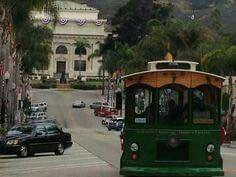 California Street and trolley.  Ventura, California.