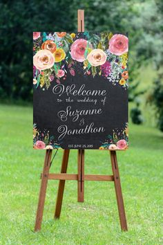 printable wedding sign custom wedding sign by OurFriendsEclectic Wedding Sand, Floral Wedding, Our Wedding, Sand Ceremony, Wedding Ceremony, Reception, Wedding Welcome Signs, Bridal Shower Party, Chalkboard Signs