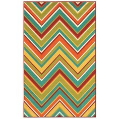 Al Fresco Multicolor Zigzag Rug (10'6 x 7'10) - art studio
