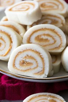 This recipe for Peanut Butter Pinwheels has been passed down in my family for generations! Don't let the secret ingredient fool you, these are a classic favorite candy that I'm sure you're going to love! Peanut Butter Candy, Peanut Butter Recipes, Fudge Recipes, Baking Recipes, Cookie Recipes, Peanut Butter Pinwheel Candy Recipe, Potatoe Candy Recipe, Köstliche Desserts, Desert Recipes
