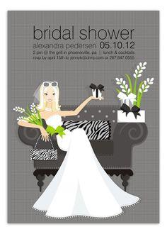 Ha!  Love this.  Blondie Shower Invitation