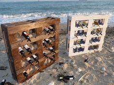 pallet wine racks easy craft ideas DIY pallet furniture wine storage