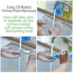 remove oil based primer or paint with vegetable oil
