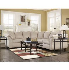 Darcy Stone 2 Piece Sectional | Sectionals | Living Rooms | Art Van Furniture - Michigan's Furniture Leader Amy??